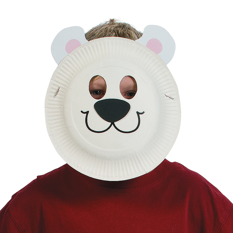 how to make a polar bear mask