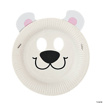 Paper Plate Polar Bear Mask Craft Kit