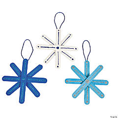 Craft Stick Snowflake Ornament Craft Kit