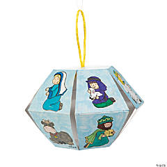 Color Your Own Nativity Lantern Ornament