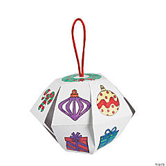 Color Your Own Christmas Lantern Ornaments