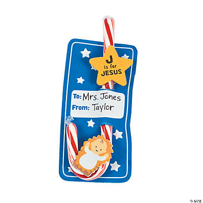 """J Is For Jesus"" Candy Cane Card Craft Kit"