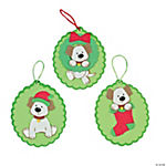 Christmas Puppy Foam Ornament Craft Kit