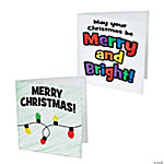 Thumbprint Christmas Lights Card Craft Kit