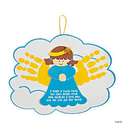 Angel Handprints Poem Christmas Ornament Craft Kit