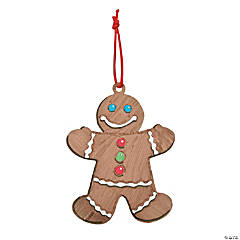 DIY Paper Gingerbread Ornament Craft Kit