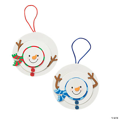 Layered Snowman Christmas Ornament Craft Kit