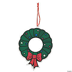 Color Your Own Christmas Wreath Ornaments