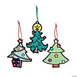 Color Your Own Fuzzy Christmas Tree Ornaments