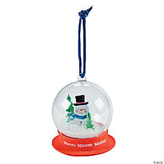 Snow Globe Christmas Ornament Craft Kit