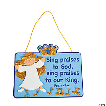 Sing For The King Sign Craft Kit