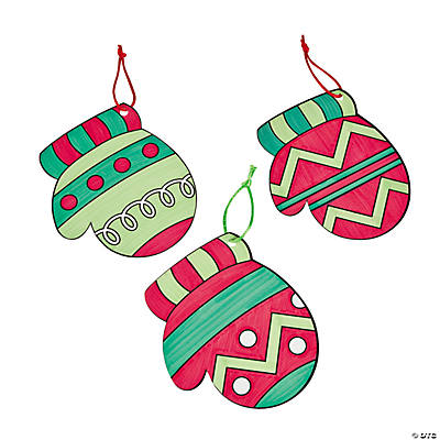 Color Your Own Mitten Ornaments