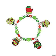 Mitten Enamel Charm Bracelet Craft Kit