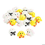 Springtime Animals Lampwork Beads
