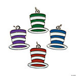 Top Hat Enamel Charms