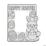 Color Your Own Easter Photo Frames