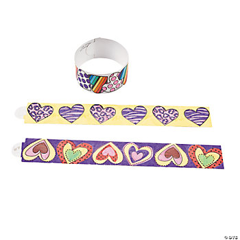 Color Your Own Valentine Bracelets