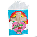 "Color Your Own ""Jesus Loves Me"" Bags"