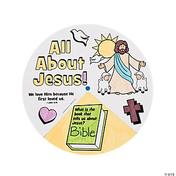 "Color Your Own ""All About Jesus!"" Wheels"