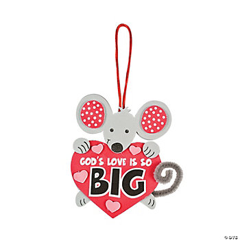 """God's Love Is So Big"" Mouse Craft Kit"