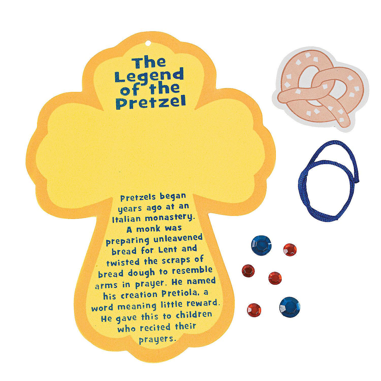 """The Legend of the Pretzel"" Sign Craft Kit - Oriental Trading"