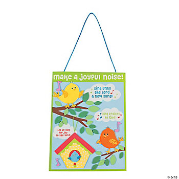 """Make A Joyful Noise!"" Sign Craft Kit"