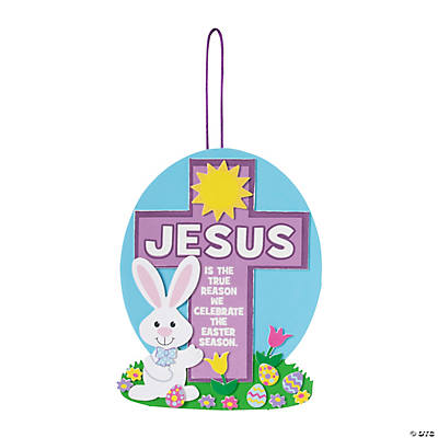 Cross Prayer Bunny Sign Craft Kit