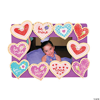 Sugar Cookie Valentine Picture Frame Magnet Craft Kit