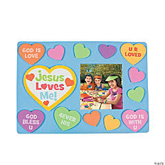 """Jesus Loves Me"" Picture Frame Magnet Craft Kit"