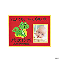 "2013 ""Year Of The Snake"" Photo Frame Magnet Craft Kit"