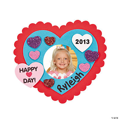 2013 Valentine's Day Picture Frame Magnet Craft Kit