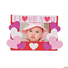 """I Love You"" Picture Frame Magnet Craft Kit"