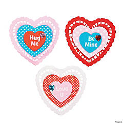 Heart Doily Magnet Craft Kit