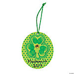 Thumbprint Shamrock Ornament Craft Kit