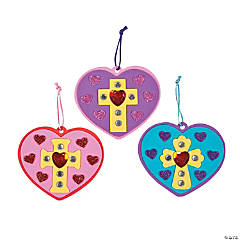 Inspirational Jeweled Heart Ornament Craft Kit