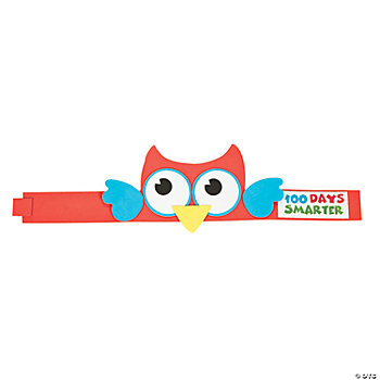 """100 Days Smarter"" Owl Headband Craft Kit"