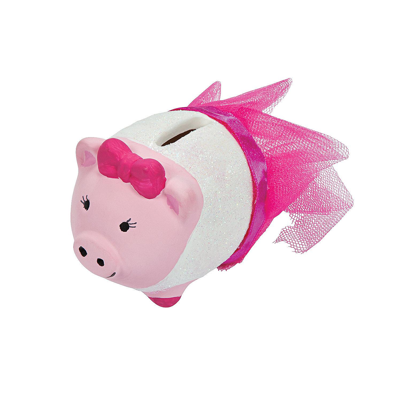 Diy ceramic mini piggy banks oriental trading for Make your own piggy bank