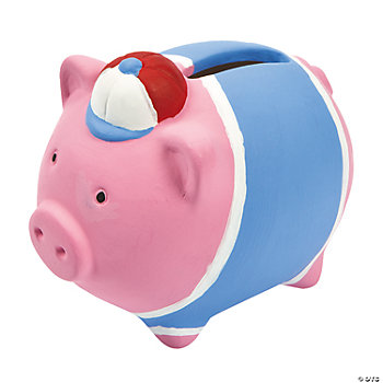DIY Ceramic Mini Piggy Banks With Hat