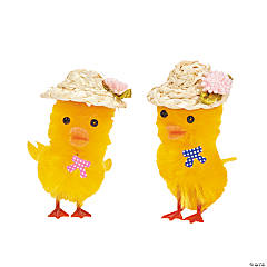 Chenille Chicks with Sun Bonnets