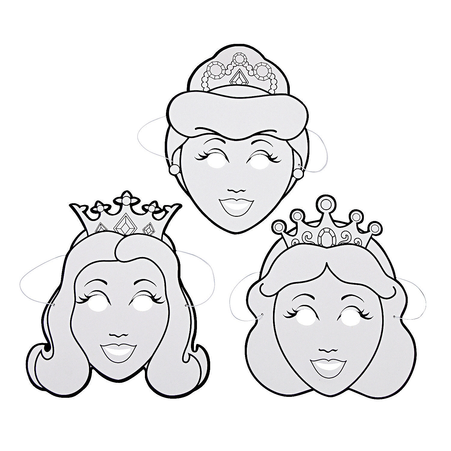 Color Your Own Princess Masks - Oriental Trading ... - photo#5