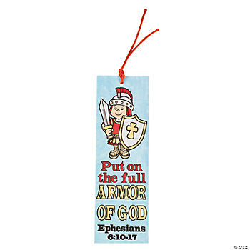 "Color Your Own ""Armor Of God"" Bookmarks"