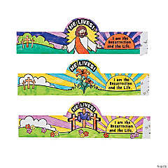 "Color Your Own ""He Lives!"" Easter Egg Wrappers"