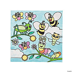 Color Your Own Spring Bug Canvases
