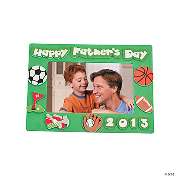 """2013 Happy Father's Day"" Magnet Picture Frame Craft Kit"