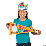 Color Your Own Owl Graduation Crowns