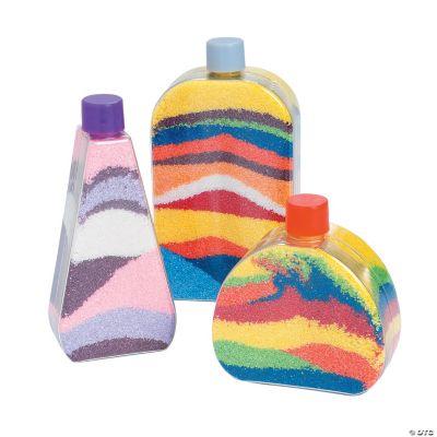 Flat-Sided Sand Art Bottles
