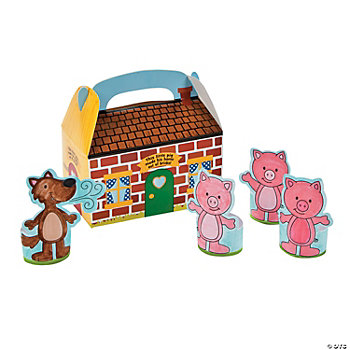 24 Three Little Pigs Craft Kit