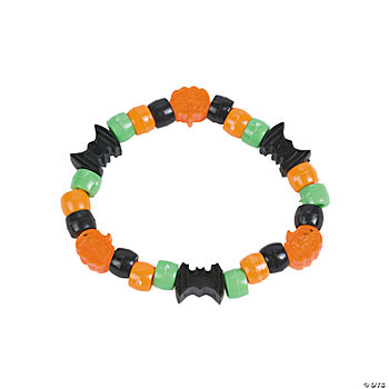 Halloween-Shaped Pony Bead Bracelet Craft Kit