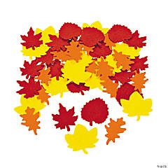 Colorful Fall Leaf Shapes