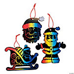 Magic Color Scratch Santa Ornaments